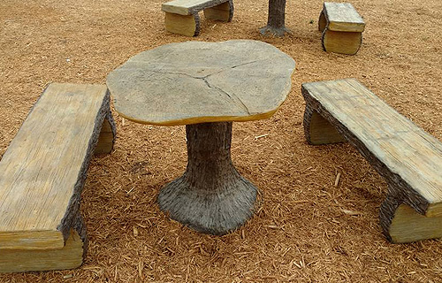 Decorative Concrete Table Bench